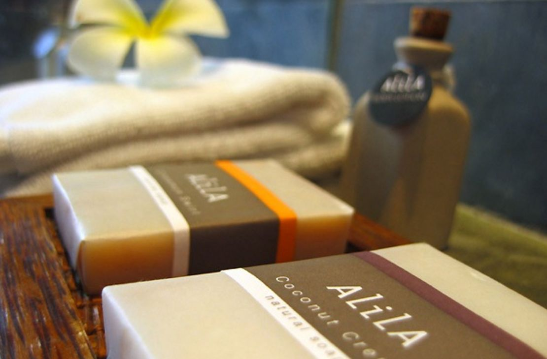 Alila Ubud room amenity organic bath- indonesie