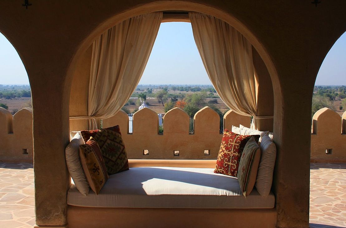 Mihir Garh Fort - Seating Area - India