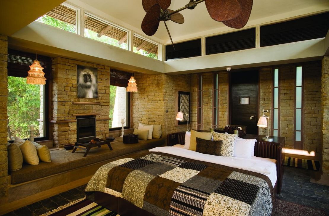 Pashan Garh Wilderness Lodge - Bedroom - India