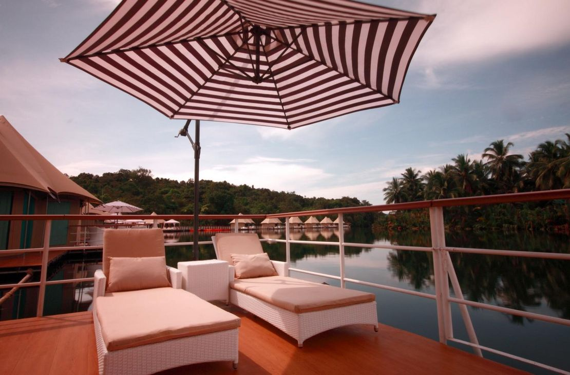 4 Rivers Floating Lodge - Deck - Cambodja