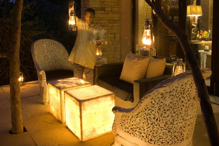Pashan Garh Wilderness Lodge - Private Sit Out - India