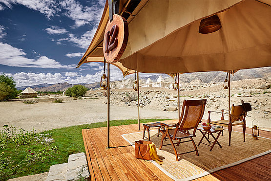 Chamba Camp Thiksey - Luxury Sand Tent Terrace - India