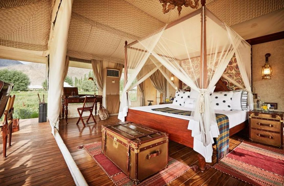Chamba Camp Thiksey - White Tent Interior - India