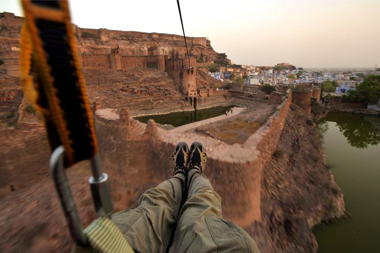 Flying Fox In The Meherangarh Fort - Jodhpur - India