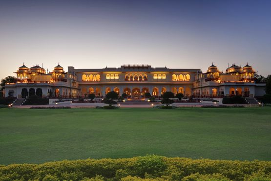 Taj Rambagh Palace - Hotel Exterior At Night - India