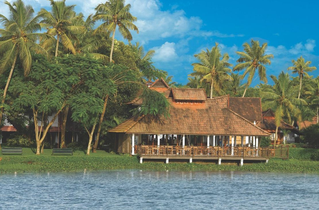 Kumarakom Lake Resort - Restaurant from Lake - India