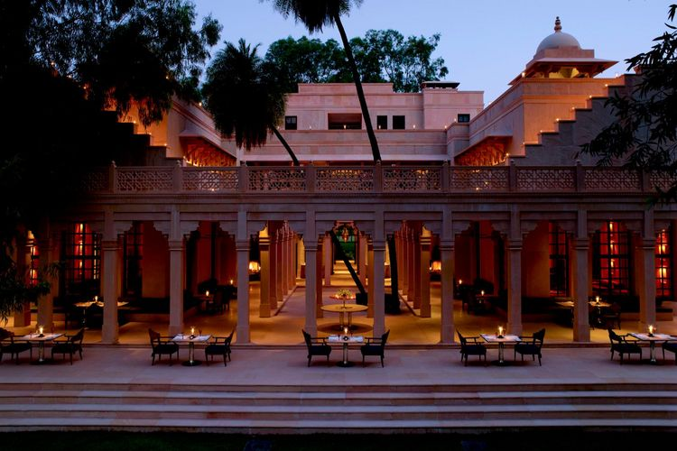 Amanbagh Resort - Terrace Dining - India