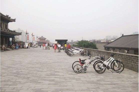 Citywall by bike - Xian - China