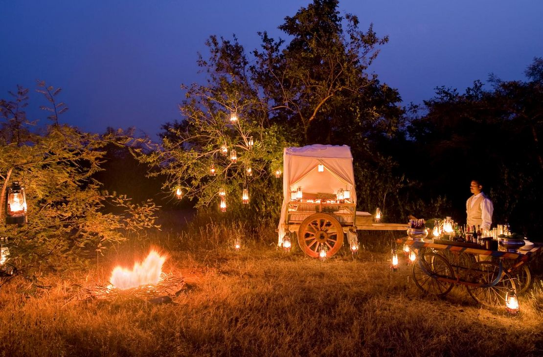 Pashan Garh Wilderness Lodge - Bush Dinner - India
